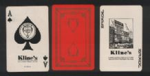 Vintage  Advertising playing cards  Kline's Dept Store